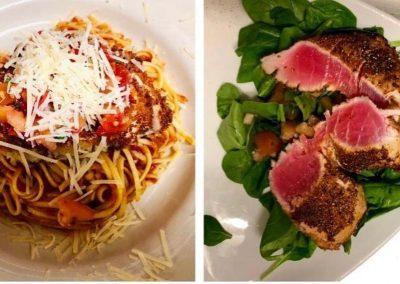 Chicken Parmesan & Ahi